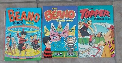 Two - The beano annuals and One The Topper 1986,1990 and 1992
