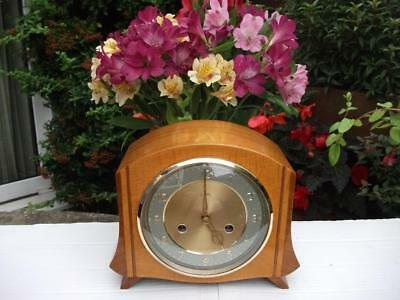 Stunning Smiths 8 Day Striking Mantel Clock. 1955.  Fully Overhauled. Very Rare.