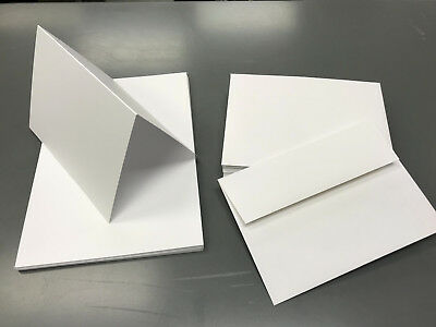 """A7 7"""" x 5"""" Folded Blank Cards with White A7 Envelopes Greeting Cards/Invites"""