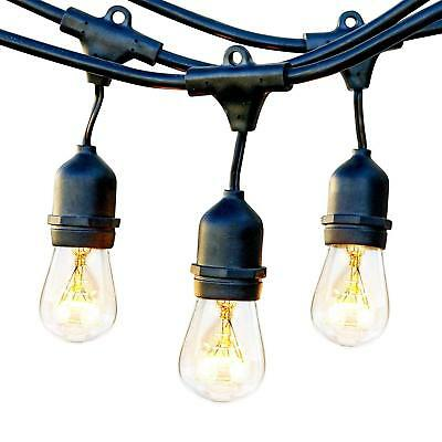 Brightech Ambience Commercial Grade Outdoor Light Strand 48 FT Hanging Sockets