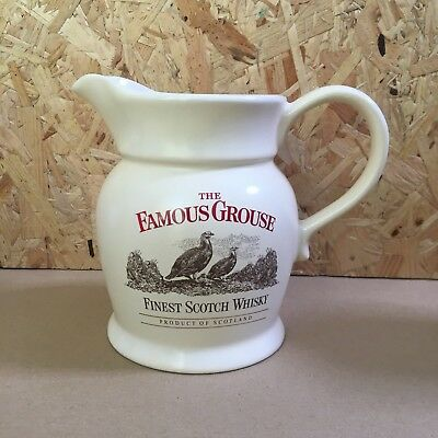 Vintage Famous Grouse Whisky Cream Pub Water Jug - Wade - 15cm