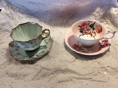 Lot of 2 Vintage Paragon Bone China Cup & Saucer Set