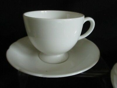 Vintage white china English Bone china mismatched tea cups and saucers x 2