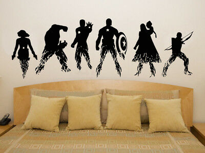 Marvel Avengers Superheroes Comic Characters Decal Wall Art Sticker Picture