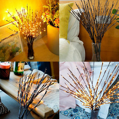 Willow 20 LED Branch Floral Warm White Lights Lamp Tree Home Garland Decorations