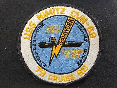 USS Nimitz CVN 68 Navy Jacket Patch 79 Cruise 80