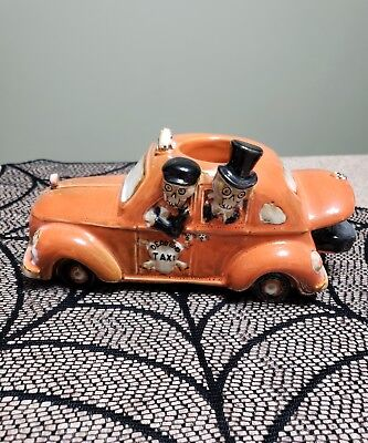 Yankee Candle Boney Bunch Taxi Cab Car Votive Holder Halloween Skeleton 2014