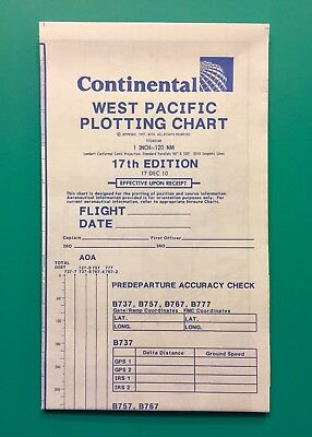 Continental Airlines Pilot Chart West Pacific — 2010