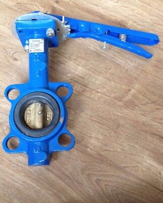 Cast Iron Wafer Butterfly Valve - Epdm Seat, Bronze Disc D50
