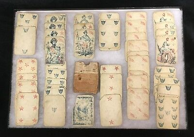 Civil War Playing Cards Identified/id' D Full Deck 1864 Scarce Good Condition