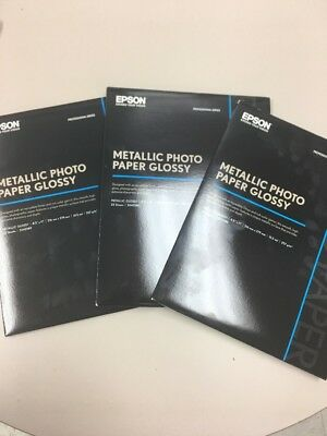 Epson S045589 Metallic Photo Paper Glossy Professional Series 3 Packs Of 25