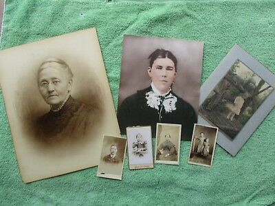 Small Antique Lot of Early CDV and Other Photos