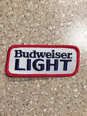 RETRO! Vintage Budweiser Bud Light Beer Patch Authentic Anheuser Busch Brewery