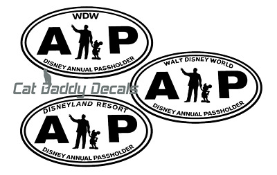 Walt and Mickey Decal Disneyland Decal Disney World Decal Annual Passholder