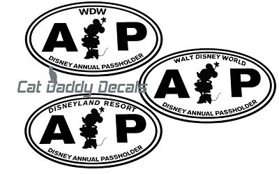 Minnie Decal Disneyland Decal Disney World Decal Annual Passholder Decal AP