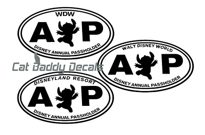 Stitch Decal Disneyland Decal Disney World Decal Annual Passholder Decal AP