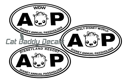 Groot Decal Disneyland Decal Disney World Decal Annual Passholder Decal AP