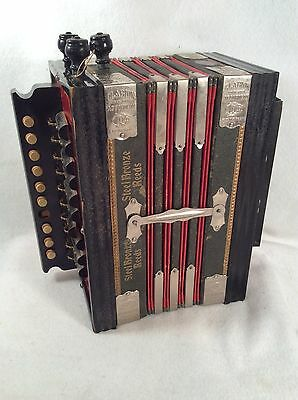 Antique Clarion Accordion Music German SQEEZE BOX made in SAXONY