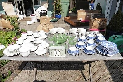 Vintage/Retro Shop Lot of Mixed Items - Crockery including a Chinese Tea Service