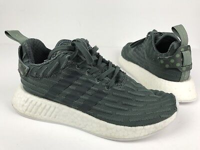 fc8c640f82840 WOMEN ADIDAS NMD R2 WHITE UTILITY GREEN NOMAD Size 7 -  36.00