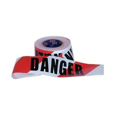 PRO CHOICE Barrier Tape Red/White DANGER 100m x 75mm (CARTON OF 20)
