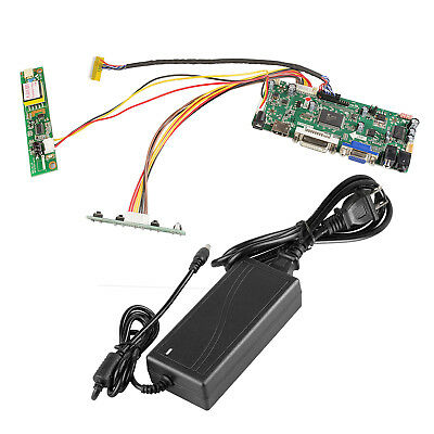 M.NT68676.2A HDMI VGA DVI Audio LCD Panel Controller Board + 12V3A Power Adapter