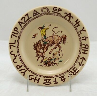 Westward Ho Rodeo Pattern Salad Plate Made For True West By Coor's China