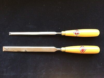 "Henry Taylor Diamic Long Thin Bevel Edge Paring Chisels 3/4"" & 1/2"" Free shippin"
