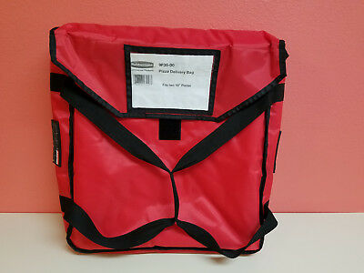 """Rubbermaid 9F35 ProServe Pizza Delivery Bag - 18"""" x 18"""" x 5 1/4"""" (FG9F3500 RED)"""