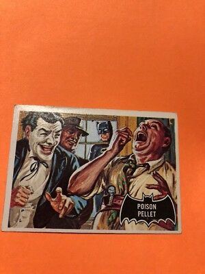 Vintage 1966 Topps Batman Poison Pellet Trading Card RARE  Good