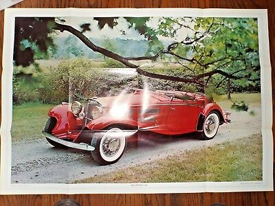 Vintage Mercedes Benz 540K  Automobile Quarterly Magazine Full Color Poster