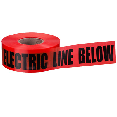 """Ideal 42-151 Underground """"Caution Buried Electric Line"""" Tape, Red 6""""x1000'"""