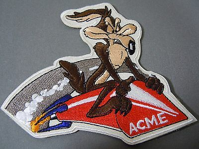 "WILE E. COYOTE on ACME ROCKET Embroidered Iron-On Patch - 4"" - Looney Tunes"