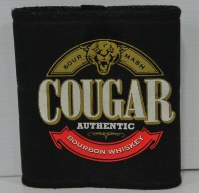 Cougar Authentic Sour Mash Bourbon Whiskey Folds Flat Can Cooler Stubby Holder