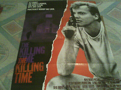Kiefer Sutherland THE KILLING TIME 1987 folded one-sheet Like new Undamaged