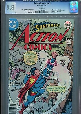 Action Comics 471 CGC 9.8 WHITE pages Superman 1st appearance of Faora! Top Copy