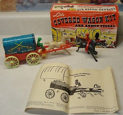 Vintage Tin Toy Lido Covered Wagon Kit In Box.
