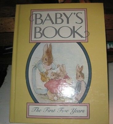 BABY`S BOOK  The First Five Years  Beatrix Potter  nice