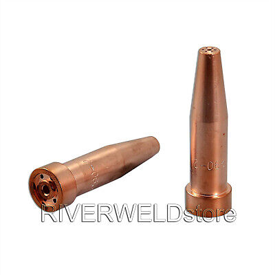 2PCS  Acetylene Cutting Torch Tips 6290-2 Size #2 Fits Harris