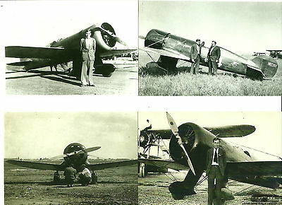 """Lot Of 4: J.r. Wedell & Airplanes 4"""" X 6"""" Black & White Photographs"""