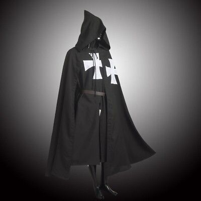 LARP MEDIEVAL WARRIOR Cosplay Costume HOSPITALLER KNIGHT Tunic /CAPE Cloak Robe