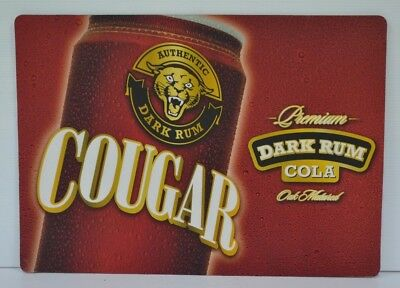 Cougar Authentic Dark Rum & Cola Brand New Small Bar Mat Or Large Place Mat