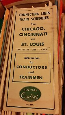 Chicago, Cincinnati and St. Louis Time Table for Conductors & Trainmen 6-1-1957
