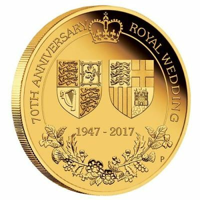 NEW Perth Mint - 70th Anniversary of the Royal Wedding 2017 2oz Pure Gold Coin