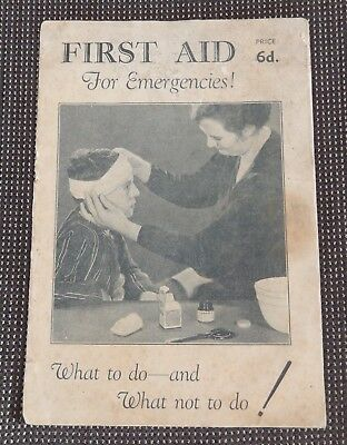 First Aid for Emergencies (1930s) Booklet Iodex Company Australia