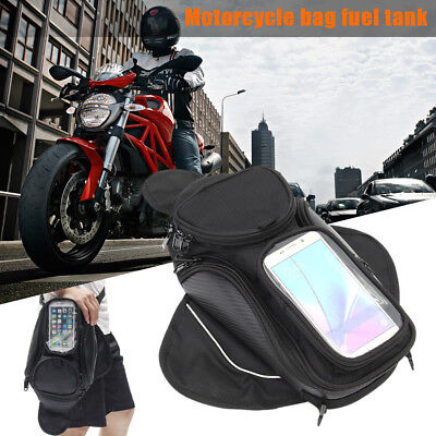 800D Nylon Motorcycle Oil Fuel Tank Bag Magnetic Saddle Sack for Mobile Phone