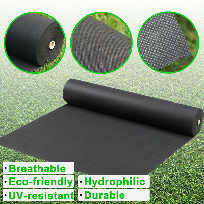 1/1.5/2m Wide Weed Control Fabric Membrane Landscaping Ground Cover Mulch Garden