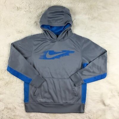 NIKE Youth Kids Size Large Dri Fit Therma-Fit Fleece Pullover Hoodie Sweatshirt