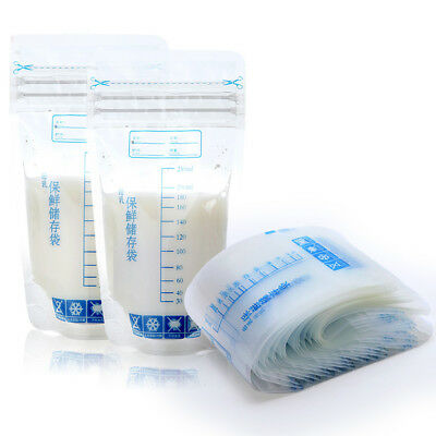 30X Pre-sterilized Bag For Storing and Freezing Breast Milk Leakproof Seal UK