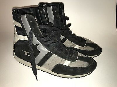 Diesel High Top Mens Shoes Leather Upper Size 10